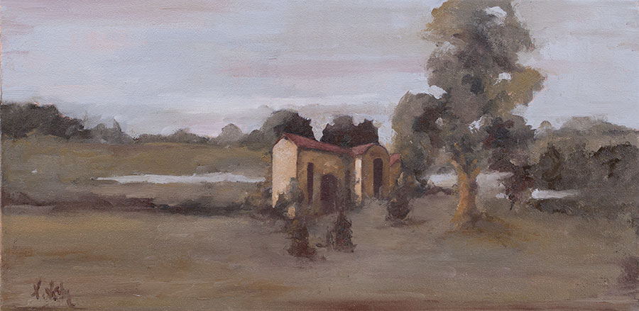"""""""Casado,"""" 12 x 24 in. oil-canvas"""