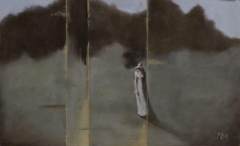 """""""Memory Field,"""" 20 x 30 in. oil-canvas"""