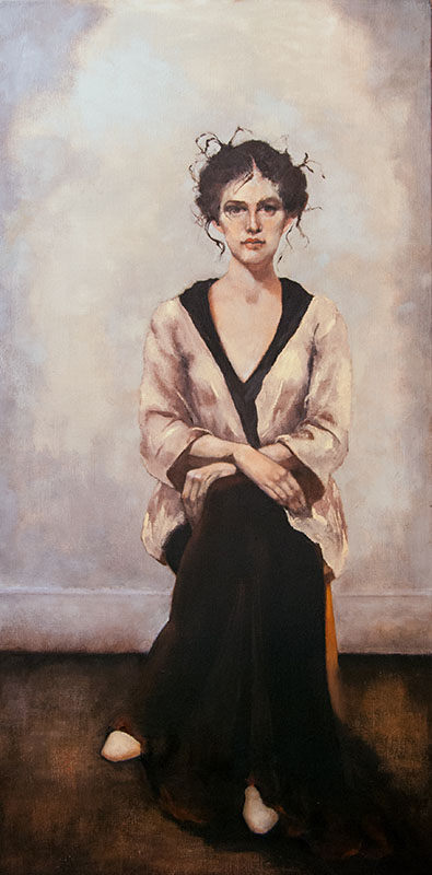 """And Then,"" 48 x 24 in. oil-canvas"