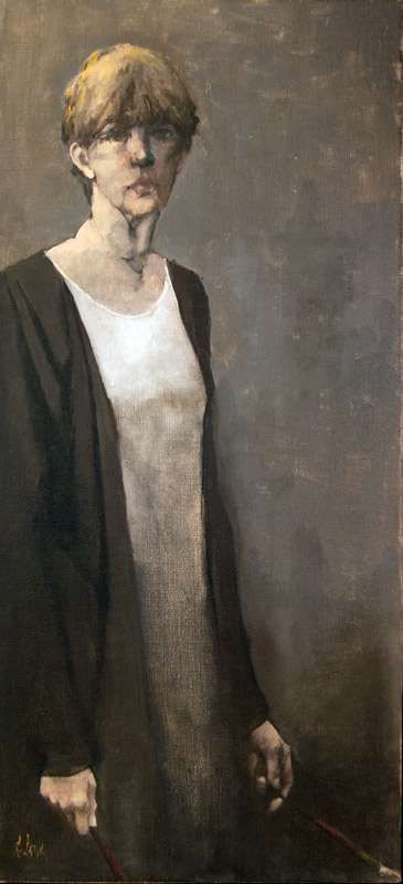 """Artist,"" 34 x 16 in. oil-linen"