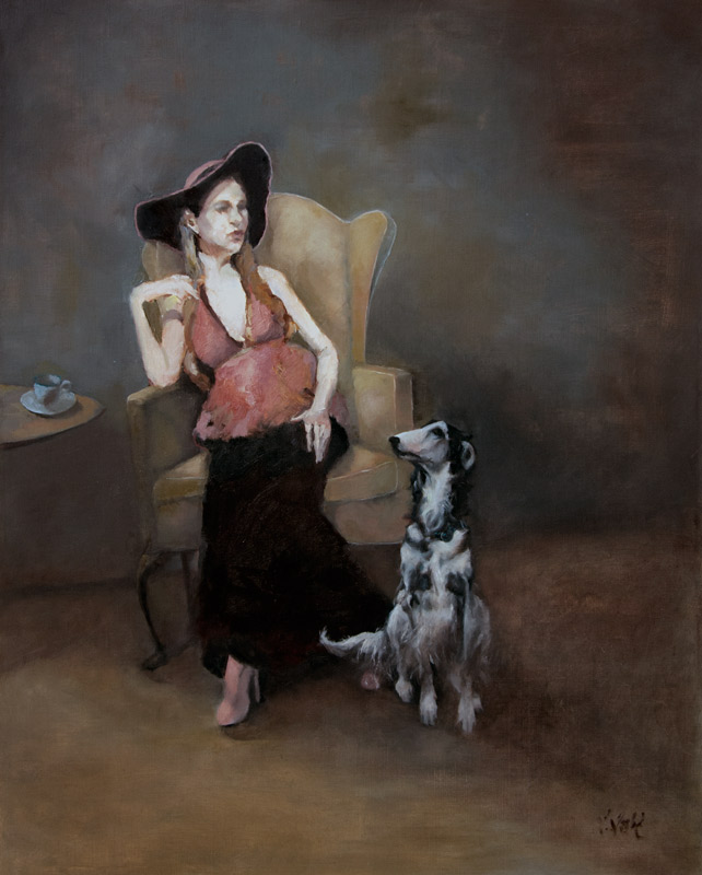 """Of Course,"" 30 x 24 in. oil-linen"