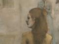 """Company of Three,"" 48 x 36 in. oil-canvas"