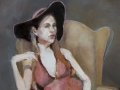 """""""Of Course,"""" 30 x 24 in. oil-linen"""