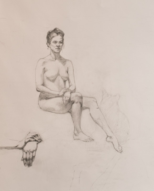 Linda Leslie Drawings, 2015-1, Figure, graphite-paper