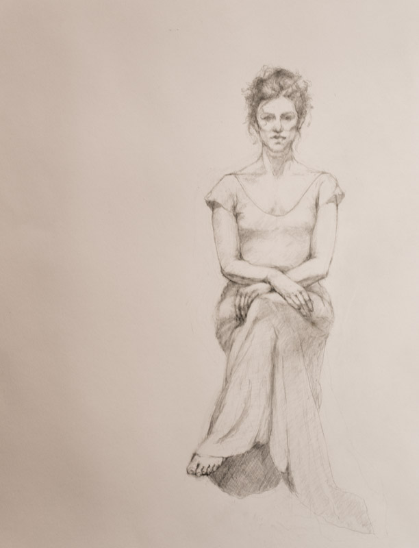 Linda Leslie Drawings, 2015-2, Figure, graphite-paper