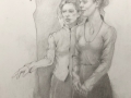 Drawing_with_Two_Figures_17x11_graphite-paper