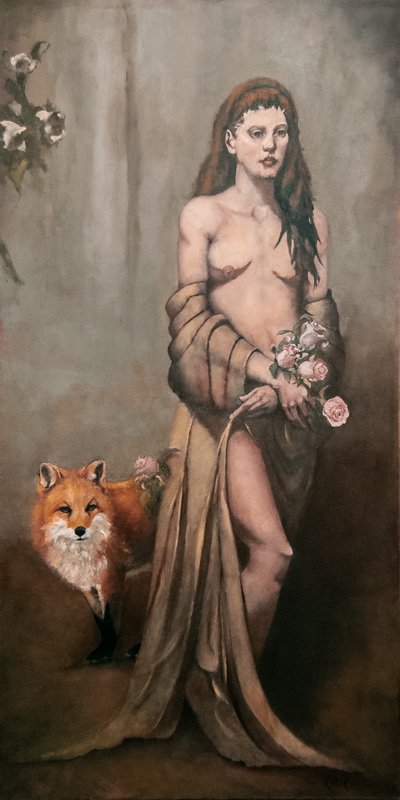 """""""Cunning Consort"""" 48 x 24 in. oil-canvas"""