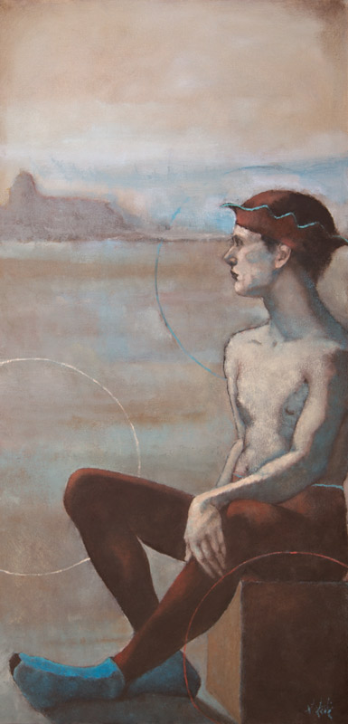"""Circus Dream,"" 36 x 18 in. oil-canvas"