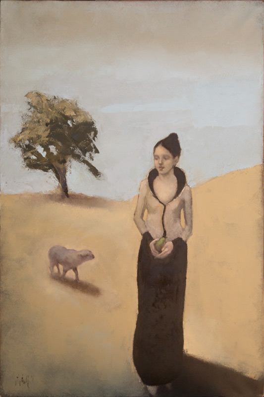 """The Lamb,"" 36 x 24 in. oil-canvas"
